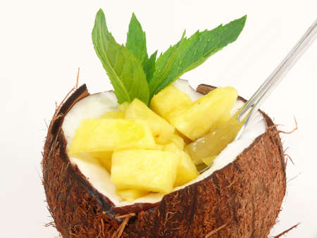 copra: Tropic Fruit Dessert Stock Photo