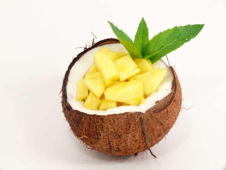 pi�as: Tropic postre de frutas