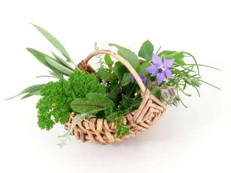 herb basket Imagens