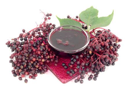 elderberry jelly Stock Photo