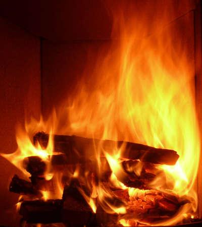 woodpile:  fireplace