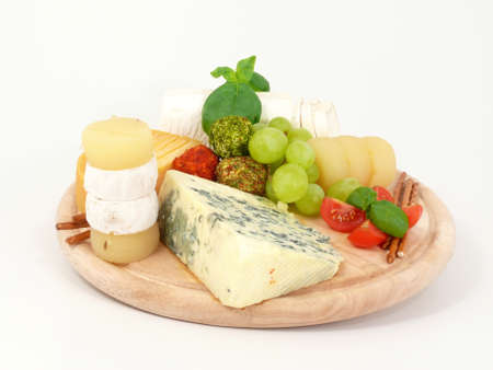 cheese plate: cheese board Stock Photo