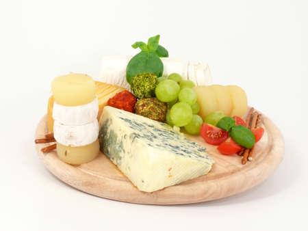 queso de cabra: Junta de queso Foto de archivo