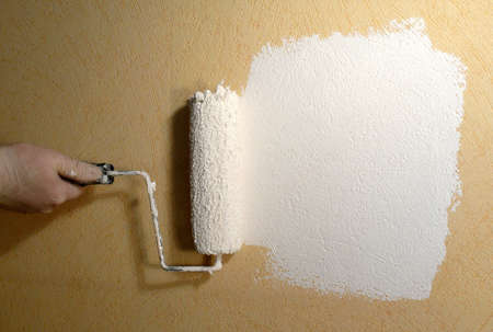 Rolling paint on wallpaper Stock Photo - 9924671