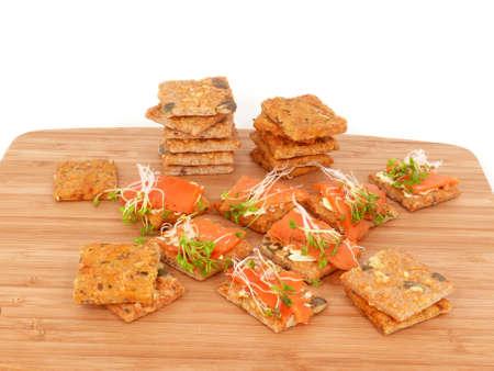 crispbread: fette biscottate con il pesce