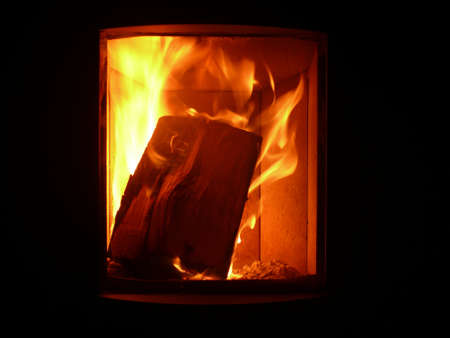 crackling  fire photo