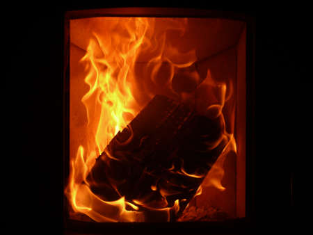 crackling  fire photo