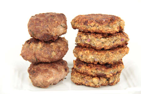 meat vs. grain balls photo