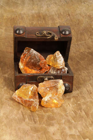 Frankincense resin in the treasure chest Standard-Bild