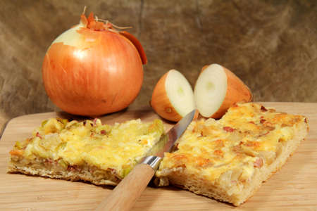 onion pie Standard-Bild