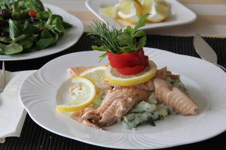food fish dinner photo