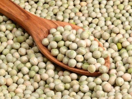 leguminosae: hard garden peas Stock Photo