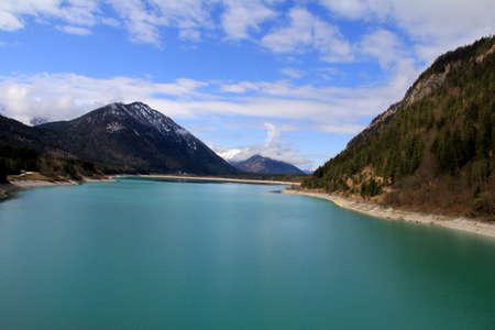 frhling: Sylvenstein reservoir