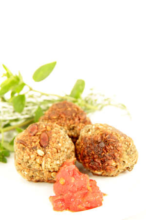 vegetarian food, grain balls photo