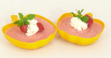 Strawberry ice cream photo