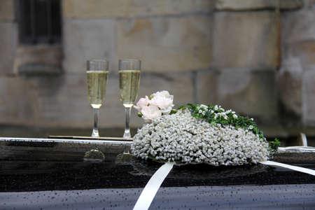wedding time, floral still life Standard-Bild