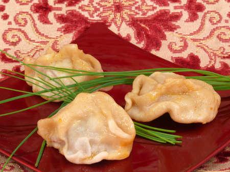 dumplings, Russian national dish Фото со стока