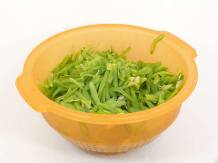 blanch: blanched beans