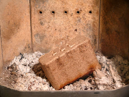 wood briquettes Stock Photo - 16210341