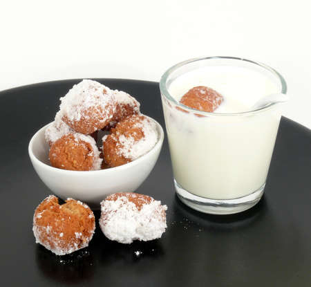 fasnet: donuts  Muzen  and milk Stock Photo