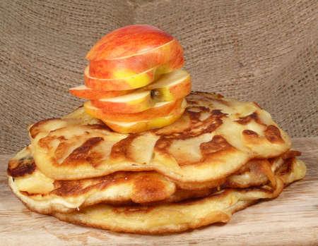 caked: apple pancakes