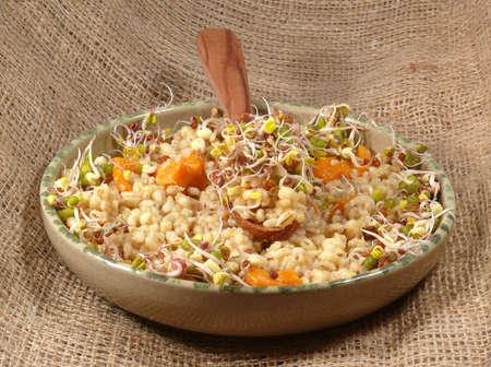 menue: risotto, vegetarian and vitamin-rich menue