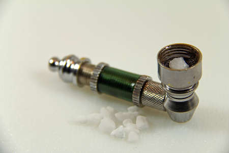 bicarbonate: drug pipe Stock Photo