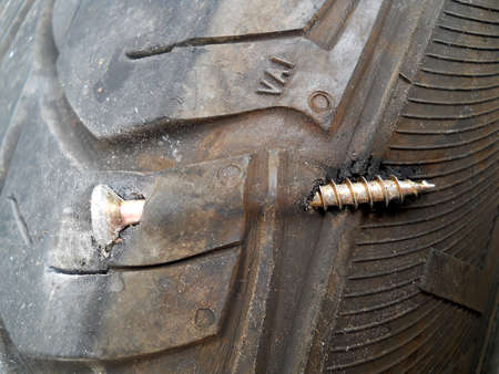 flat tyre Stock Photo - 20824833