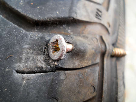 flat tyre Stock Photo - 20824835