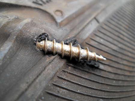 flat tyre Stock Photo - 20824836