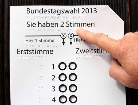 braile: typ braille, voto minusv�lidos