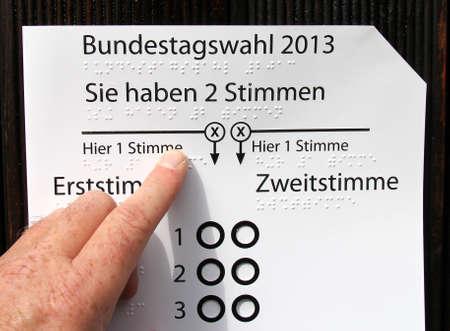 typ: braille typ, handicapped vote