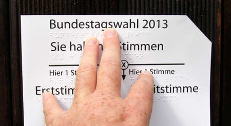 braille typ, handicapped vote Stock Photo - 21934504