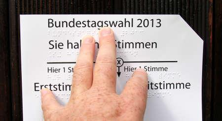 braille: typ braille, voto minusv�lidos