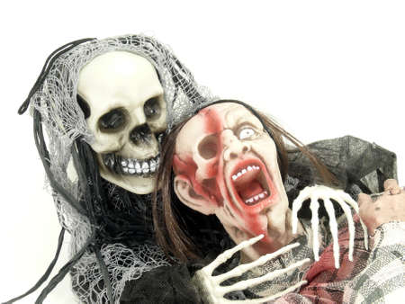 father death and zombie Stock Photo