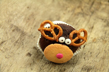rudolf: Reindeer Rudolf muffin
