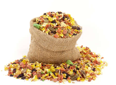 pet valuable: dried vegetables Stock Photo