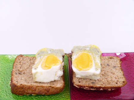 poached: poached egg Stock Photo