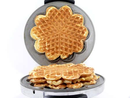 baking waffles Stock Photo