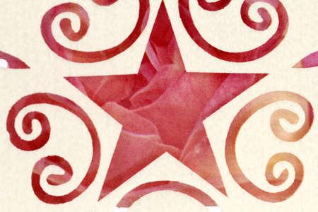 star: floral star design