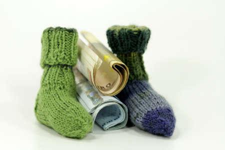 greenback: Small handmade wool socks from Grandma Hanna knitting