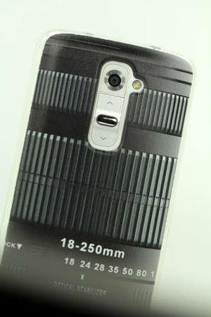 smartphone camera in zoom objectief kijken