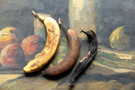 rotten: rotten banana still-life