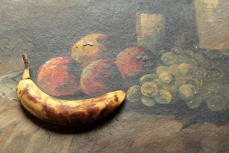 maturity: rotten banana still-life