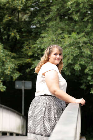 young plus size model