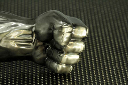 the metal fist Standard-Bild