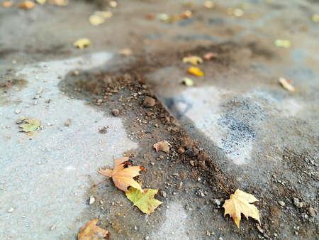 sand and asphalt Standard-Bild