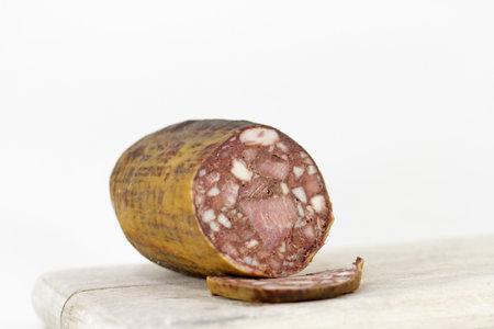 homemade blood sausage in detail Standard-Bild