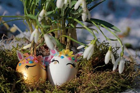 the unicorn egg in the easter nest