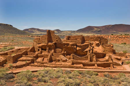 ancestral: Wupatki National Monument in north central Arizona, ancient ruins of ancestral Native Americans, is managed by the National Park Service Stock Photo